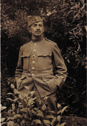 Photo von Fritz Baumann in Uniform